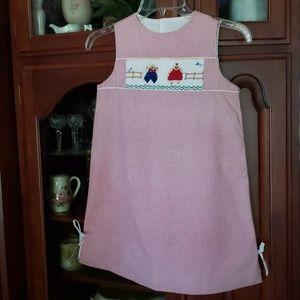 New Pinafore Smocked Farm Dress 7